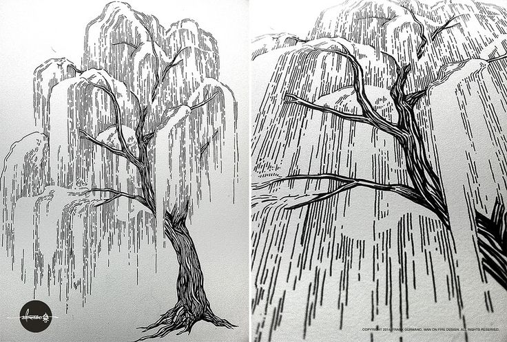 Another 'in-progress' shot from the sketchbook... I'm particularly proud of this willow... Ever tried to draw a willow tree? Believe me, it's not as easy as you'd hope