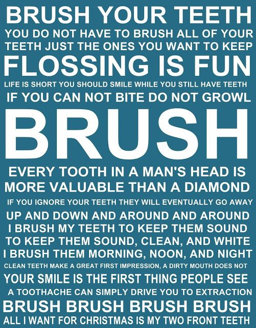 Brush your teeth quotes and sayings FREE PRINTABLE | Dental Hygiene ...