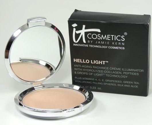 IT Cosmetics Hello Light Anti-Aging Radiance Creme Illuminator Review, Photos, Swatches