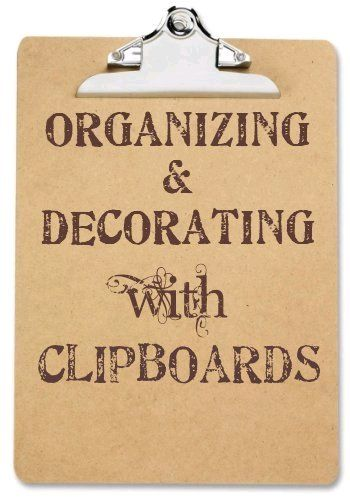 Organizing, decorating and displaying artwork and pictures with clipboards -Some of these would be fun gift ideas.