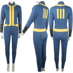 Fallout 4 Sole Survivor Nora Outfit Jumpsuit Bodysuit Suit Halloween Comic-con Anime Cosplay Costume Women