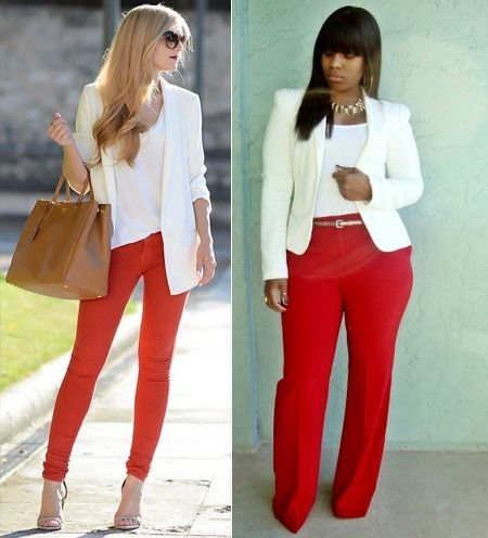 Ways to wear red pants outfits | #Fashion #Apparels