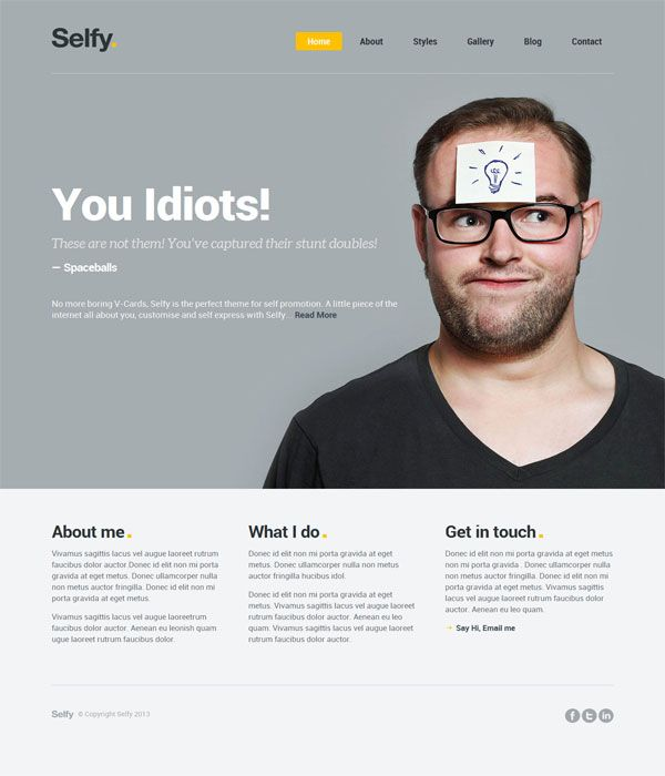 personal website template