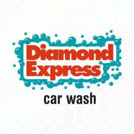 Diamond Express Car Wash logo, on sale for $350 at stocklogos.com