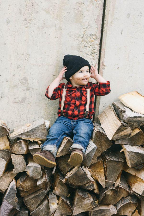 #DIY little lumberjack toddler boy halloween costume