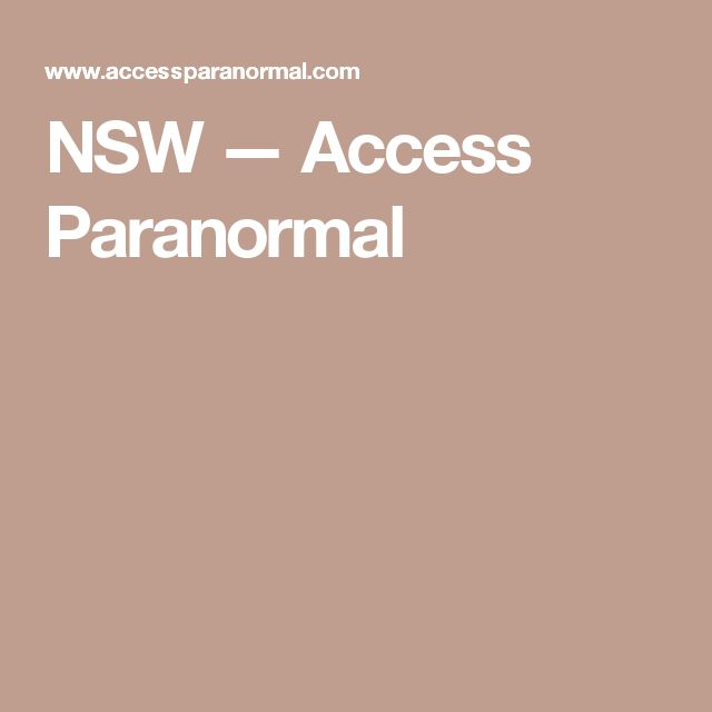 NSW — Access Paranormal