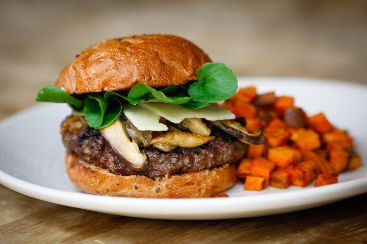 True Food Kitchen Burger grass fed bison burger from true food kitchen in #sandiego
