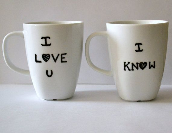 sneakers and athletic shoes I Love You I Know Mug Set  Star Wars Princess by DreamAndCraft   25 00