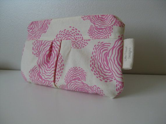 Floating buds in Pink Zip pouch by LittleFawnDesigns on Etsy, $15.00  'I heart #littlefawndesigns'