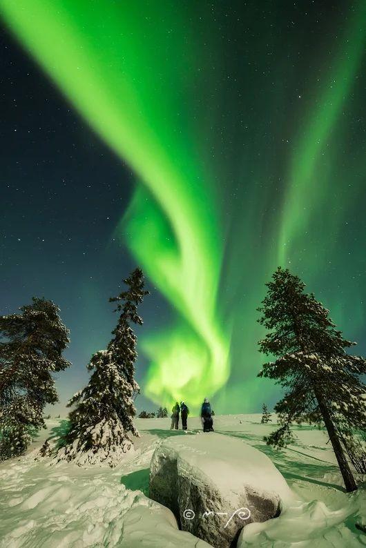 Aurora over Finnish Lapland