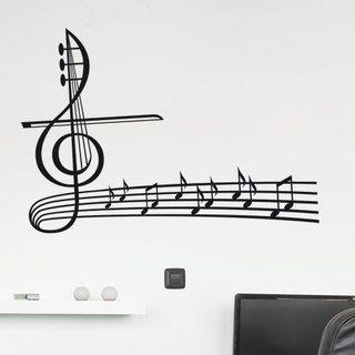 Sticker Portée musicale avec cordes