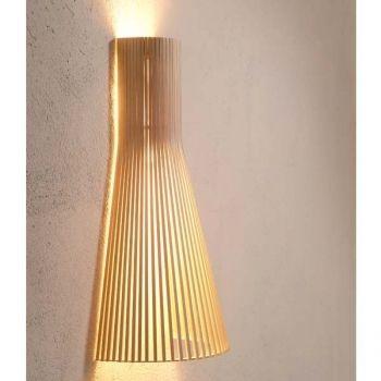 Lampada da parete Secto 45 cm, betulla