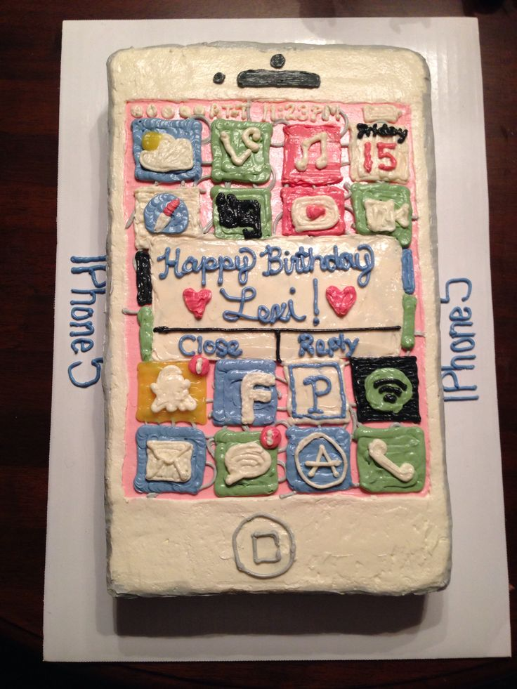 Iphone 5 Cake Happy Birthday Lexi Cakes And Bakes