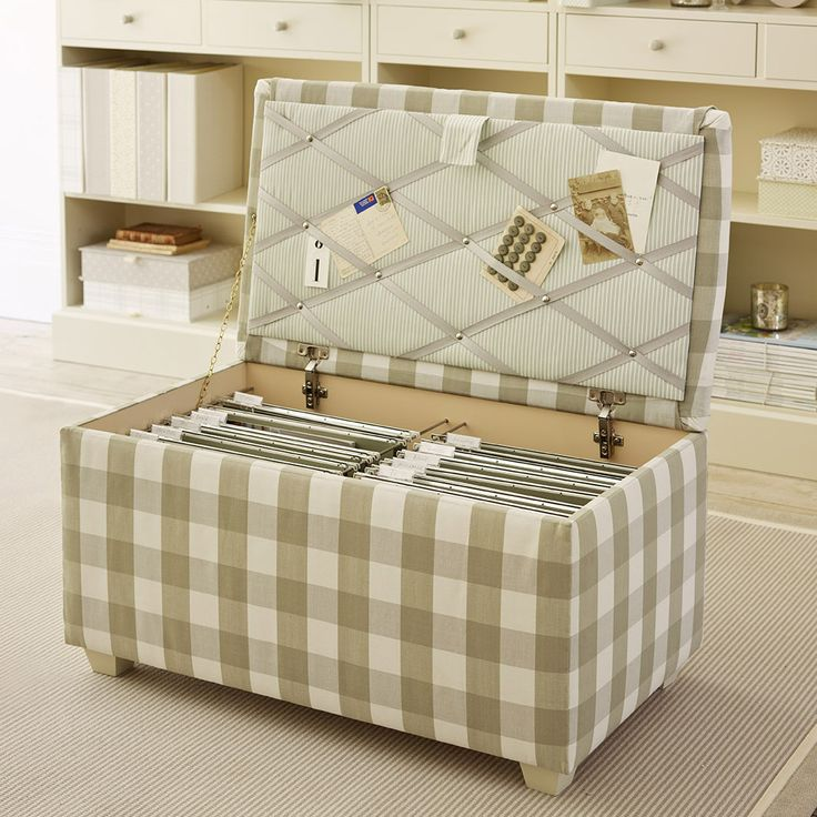 Filing Ottoman (large) - would love this instead of the ugly filing cabinet in my bedroom! #thedormyhouse