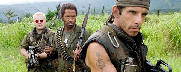 Tropic Thunder - A troupe of movie actors are dropped into a war zone that they think is all planned for the movie they're shooting. Best two parts of the film: Robert Downey Jr. is a method-actor taking on the part of a black man & Tom Cruise shows up unexpectedly. I won't say anymore… 25 Spectacular Movies You (Probably) Haven't Seen Pt. 2