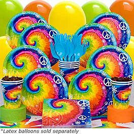 60s Party - Tie Dye 1960s Birthday Party Supplies, Decorations u0026 Ideas at  Birthday in