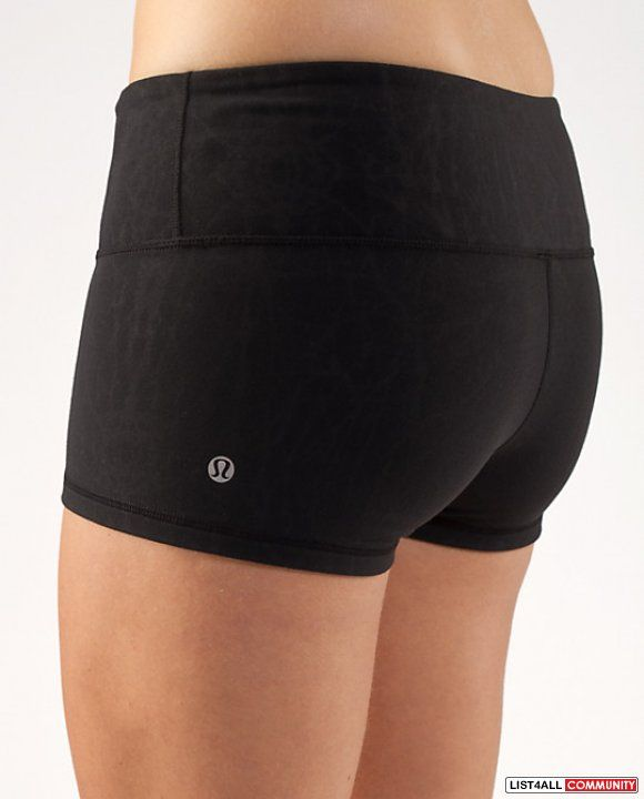 Lulu lemon, black spandex shorts.