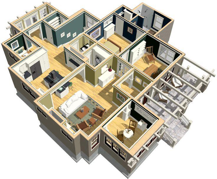 Floor plan 3d home design software, Best home design