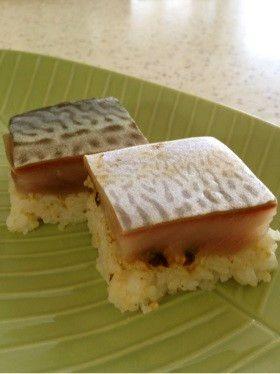 レアなシメサバで作る☆鯖の押し寿司