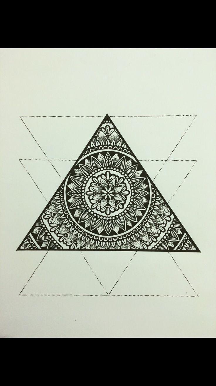 Mandala tattoo on pinterest lotus mandala tattoo lotus mandala - Triangle Mandala Tattoo Inspiration