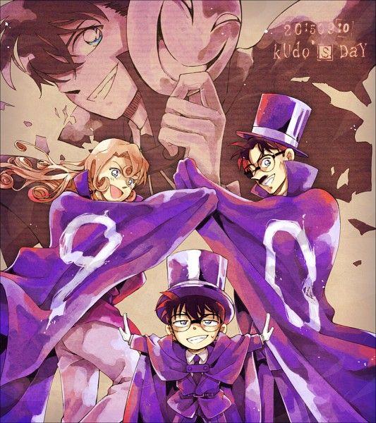 Yukiko, Conan/Shinichi and Yusaku Kudo   Detektiv Conan So adroable ^^