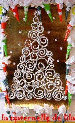 calendrier de l'avent à la manière de Klimt -