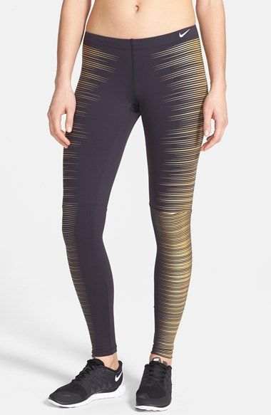 Free shipping and returns on Nike Printed Reflective Running Tights at Nordstrom.com. Run your best time in these sleek Dri-FIT jersey tights designed with a highly reflective—and slimming—print that keeps you visible from dawn to dusk.
