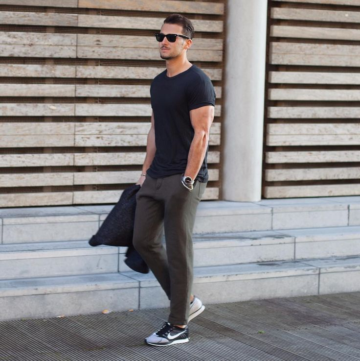 12 ways you can wear your black crew neck tee  flyknit