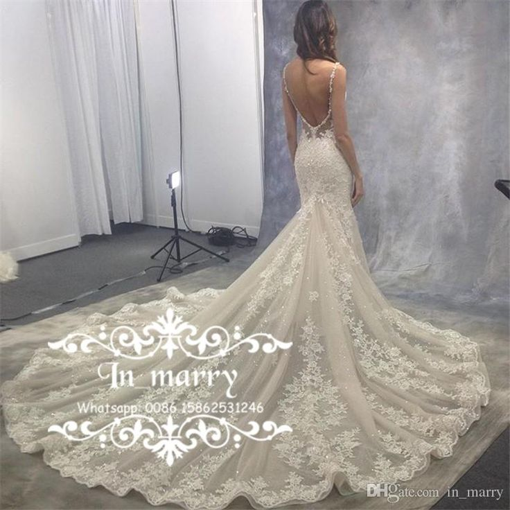 Exquisite Full Lace Low Back Mermaid Wedding Dresses 2017 Sexy Backless Eve of Milady Crystal Sequined Plus Size Court Train Bridal Gowns 2017 Wedding Dresses Plus Size Wedding Dresses Arabic Wedding Dresses Online with $520.84/Piece on In_marry's Store | DHgate.com