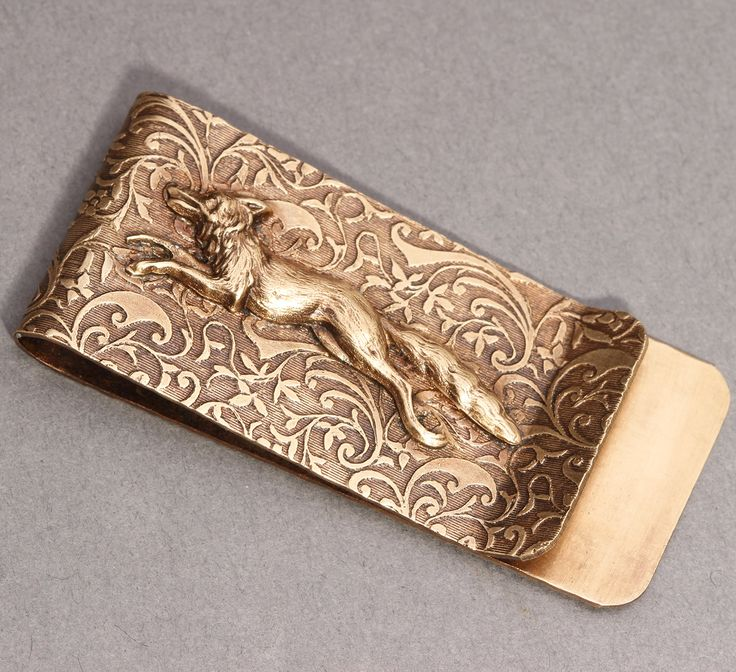 Brass Money Clip Money Clip Fox Money Clip Men Steampunk Men by DesignsBloom on Etsy