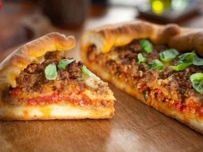 Deep-Dish Sausage Pizza Recipe | Valerie Bertinelli | Food Network