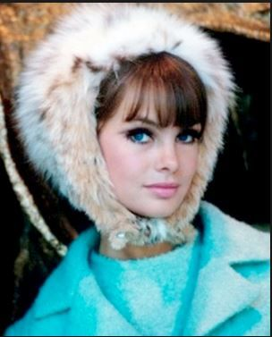 1964 Miss Jean Shrimpton, lynx fur bonnet by Adolfo, Photo by Gleb Derujinsky.