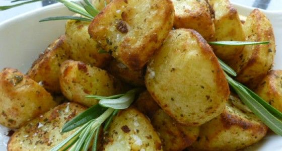 Roasties with Garlic & Rosemary