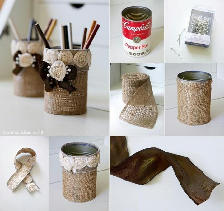 Diy pencil holder | For the Home | Pinterest