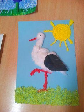 stork craft idea for kids  |   Crafts and Worksheets for Preschool,Toddler and Kindergarten