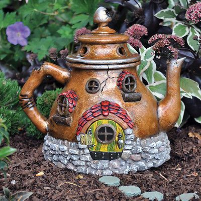 Details about Miniature Dollhouse FAIRY GARDEN – Tea Pot House – Accessories – Nice House Tree