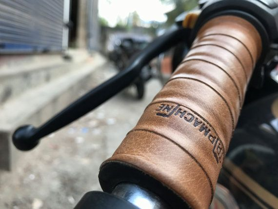 Leather Motorcycle Grips Wrap Vintage Tan Etsy Cafe Racer Cafe Racer Parts Cafe Racer Moto