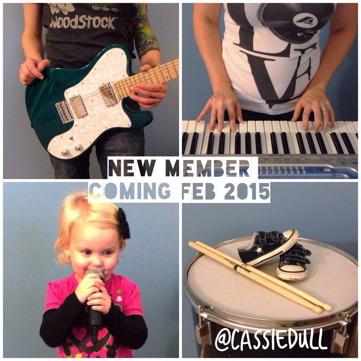 Our pregnancy announcement! New member coming February 2015 | music pregnancy announcement, 2nd pregnancy announcement, rock n roll pregnancy announcement