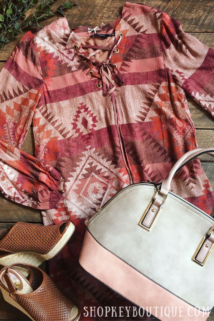 Woven Aztec Dress $43 Two Tone Bowler Bag $55 Brown Wedges $39.99 #aztecdress #dress #boho #bohemian #bohostyle #bohofashion #bowlerbag #nudebag #brown wedges #wedges #flatlay #fashion #fall #fallfashion #autumn #autumnoutfit #ootd #outfit #shopkeyboutique