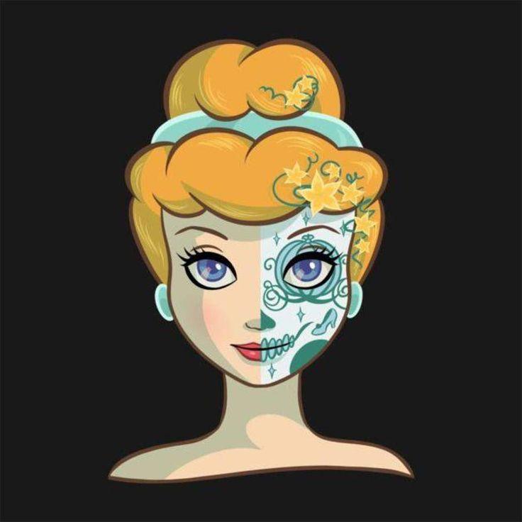 Princesas Disney como caveiras mexicanas | Just Lia