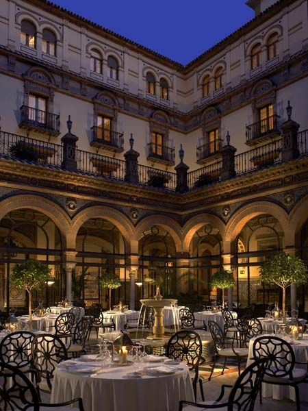 Hotel #Alfonso XIII in #Seville, Spain. Seville is situated in the south of Spain and Hotel Alfonso XIII in the heart of Seville. A 1929 landmark was recently renovated in 2012,  it symbolizes the city's Moorish influences and provides access to the renowned Santa Cruz quarter and Guadalquivir River.  ASPEN CREEK TRAVEL - karen@aspencreektravel.com