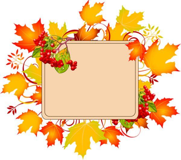 cadre - frame - autumn frame - automne - leaves