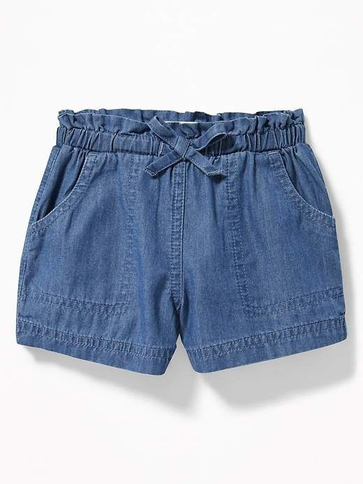 93eb2572 Chambray Utility Shorts for Toddler Girls en 2019 | Diseño Ropa ...