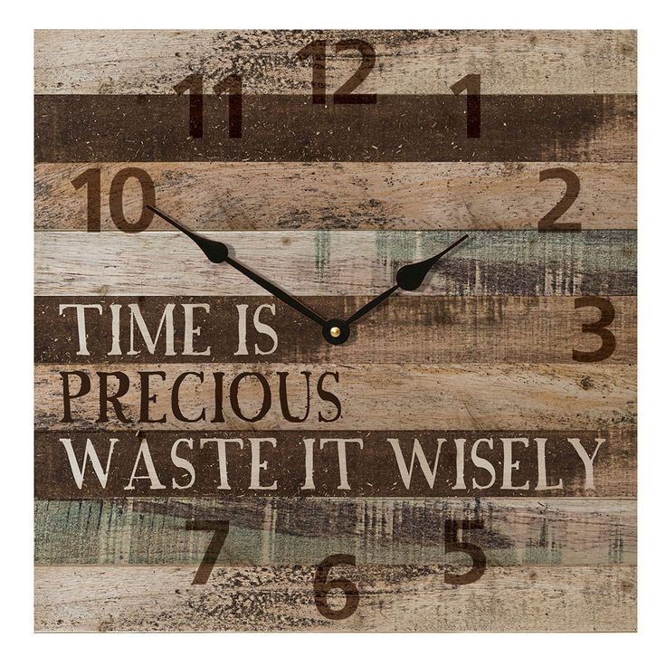 """Time Is Precious Waste It Wisely"" Wall Clock 
