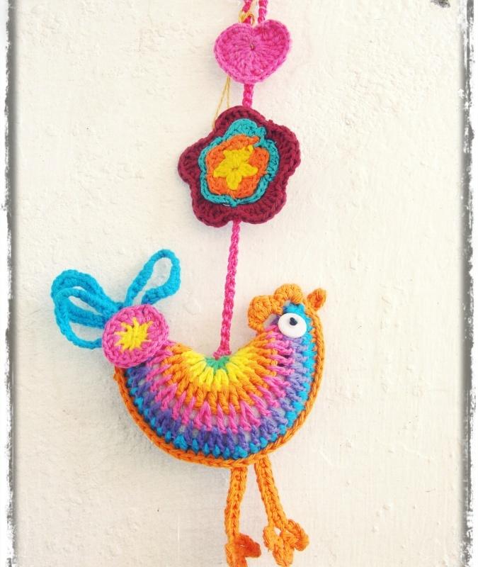 Gallito tejido a crochet