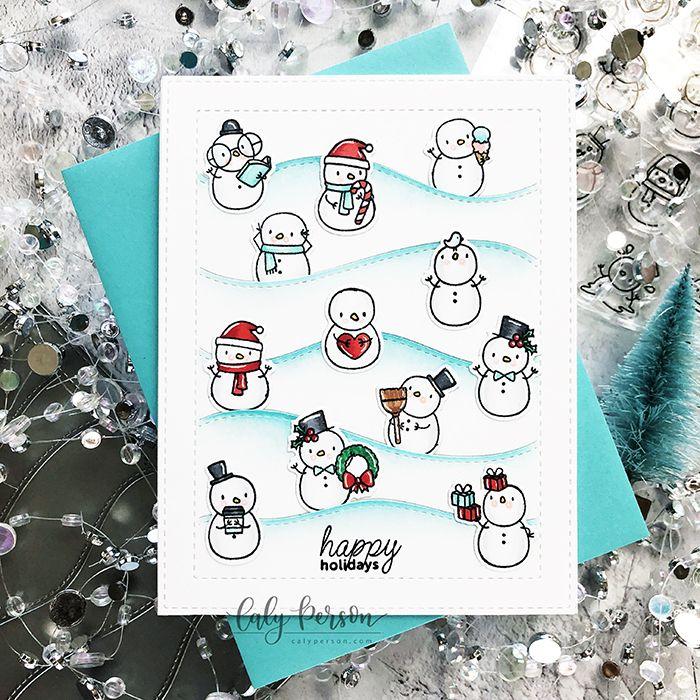 Mama Elephant Color Throwdown Little Snowman Agenda Mama Elephant Cards Mama Elephant Stamps Holiday Cards Handmade