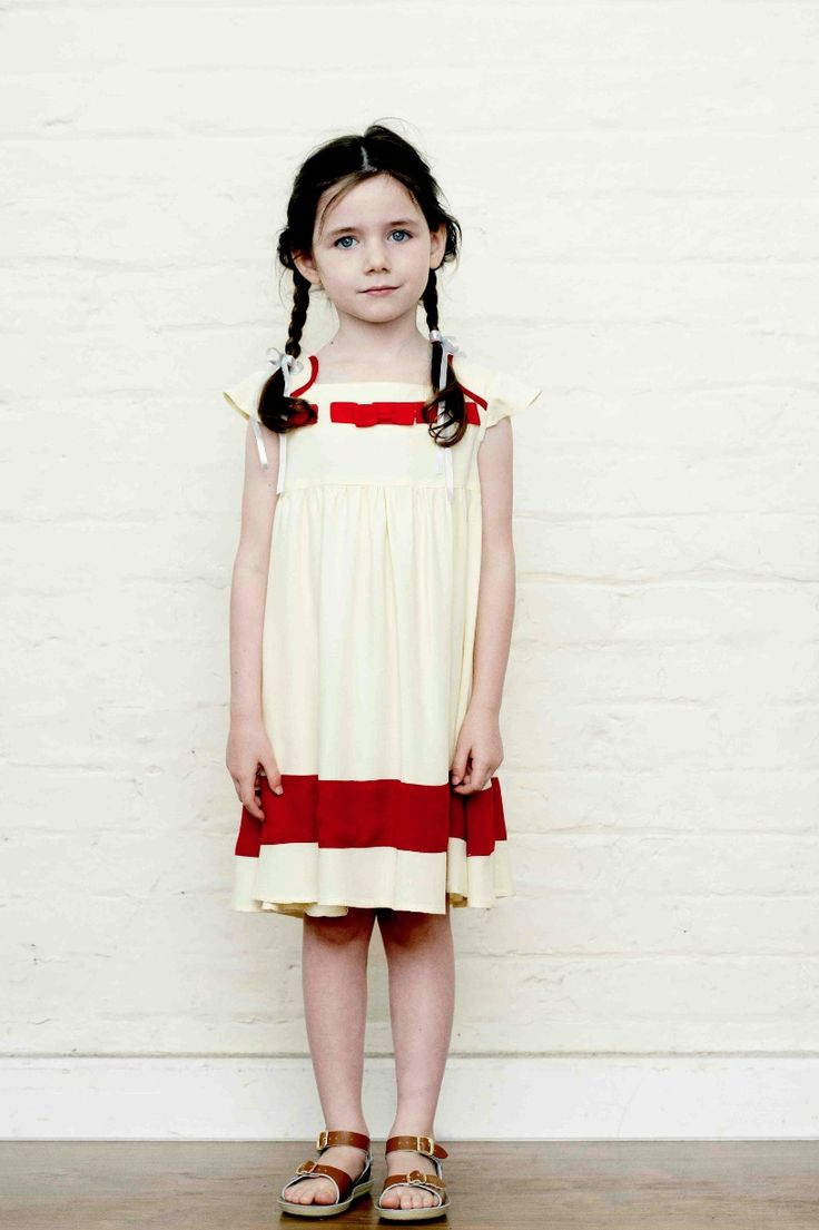 Great lemon and deep red combination for children's fashion summer 2013 at Little Duckling
