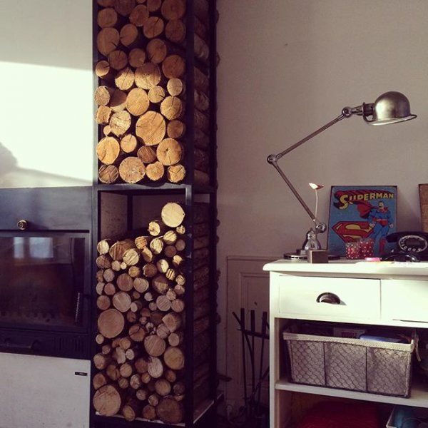 les 25 meilleures id es concernant stockage de bois de. Black Bedroom Furniture Sets. Home Design Ideas