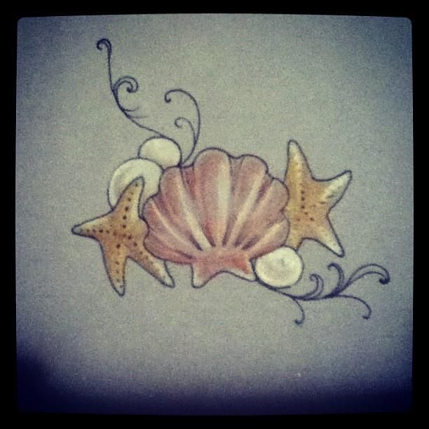 Image result for traditional seashell tattoo
