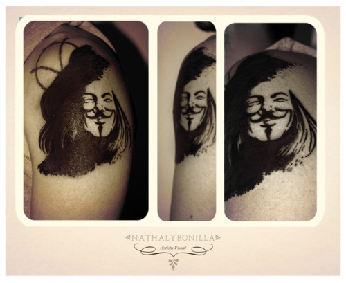 V for Vendetta tattoo By NathalyBonilla